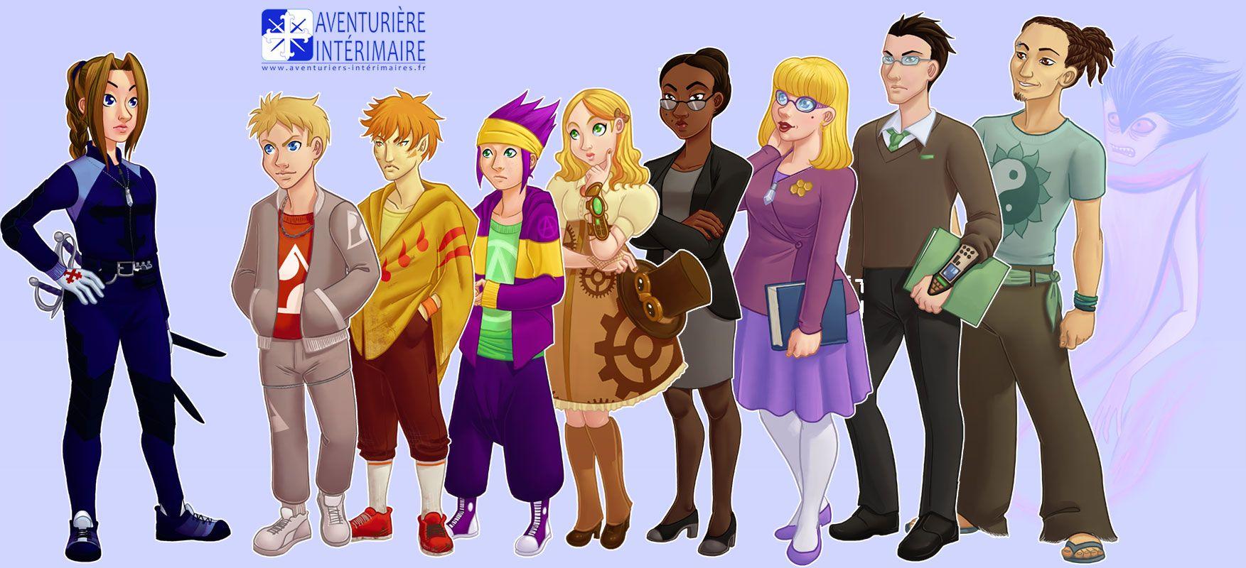 Aventurière Intérimaire: Les personnages