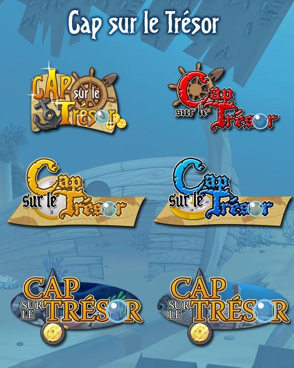 Recherche de logo pour le jeu: Cap sur le Trésor <br>© Prizee.com