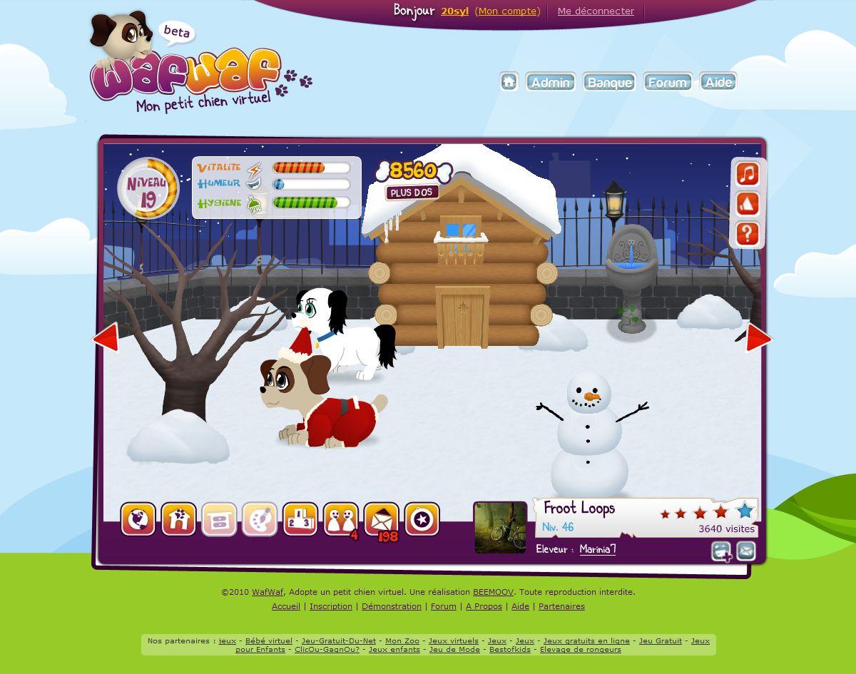 Wafwaf - Mon petit chien virtuel: L'extérieur de la niche
