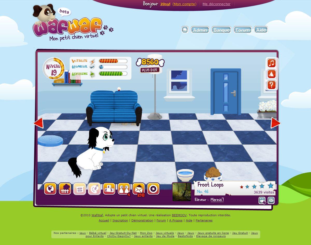 Wafwaf - Mon petit chien virtuel : Intérieur de niche
